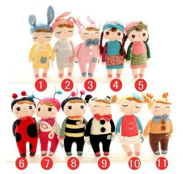 2012 New  Metoo angela cute plush toys cute doll 30cm gift to kis/girls 11designs/set wholesale retail
