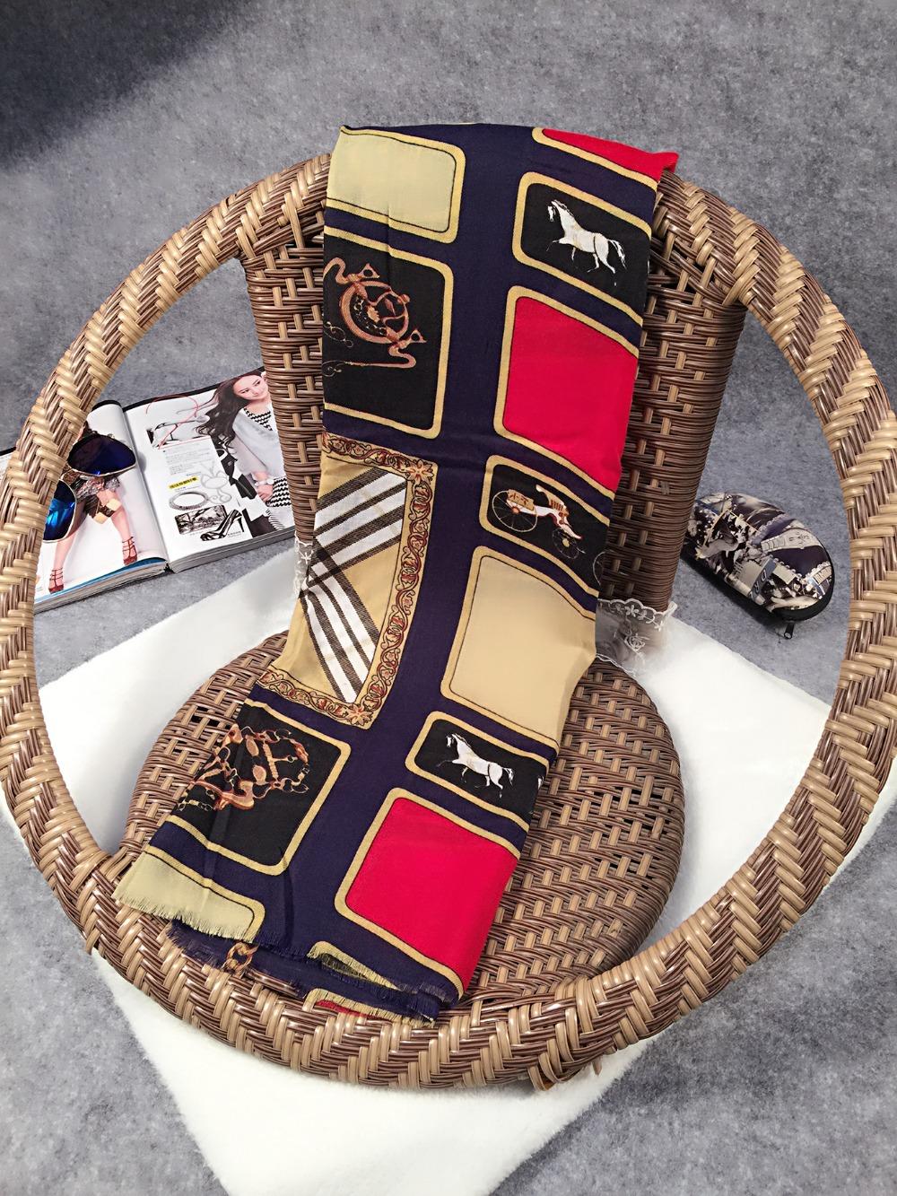 2015 New Fashion European American Famous Brand Scarf Cheap Winter Wrap Scarves Fine Voile Silk Shawl Printed Pashmina(China (Mainland))
