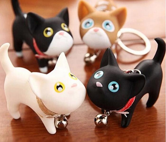 Hot sale Keychain kate Cat Dog couple key chain small keychain ring Fashion Jewelry Birthday gift(China (Mainland))