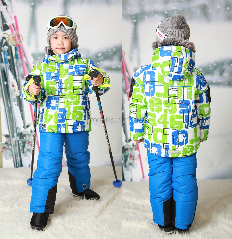 new 2 8y fashion children boy ski suits windproof 1000 ski