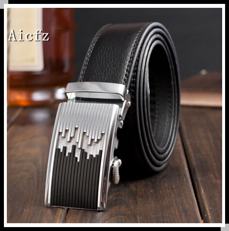 Top Quality Business Cow Leather Strap With Automatic Buckle Belt For Men Casual Belt As a gift Free Shipping(China (Mainland))