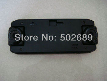 In stock now Cheapest price!Car DVR with GPS logger G-sensor and dual lens Car camera free shipping X8000