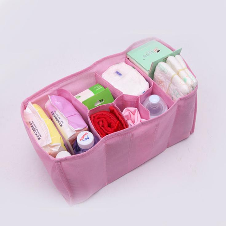 Baby Portable Diaper Nappy Water Bottle Changing Divider Storage Organizer Bag Drop Shipping BB-151\br(China (Mainland))