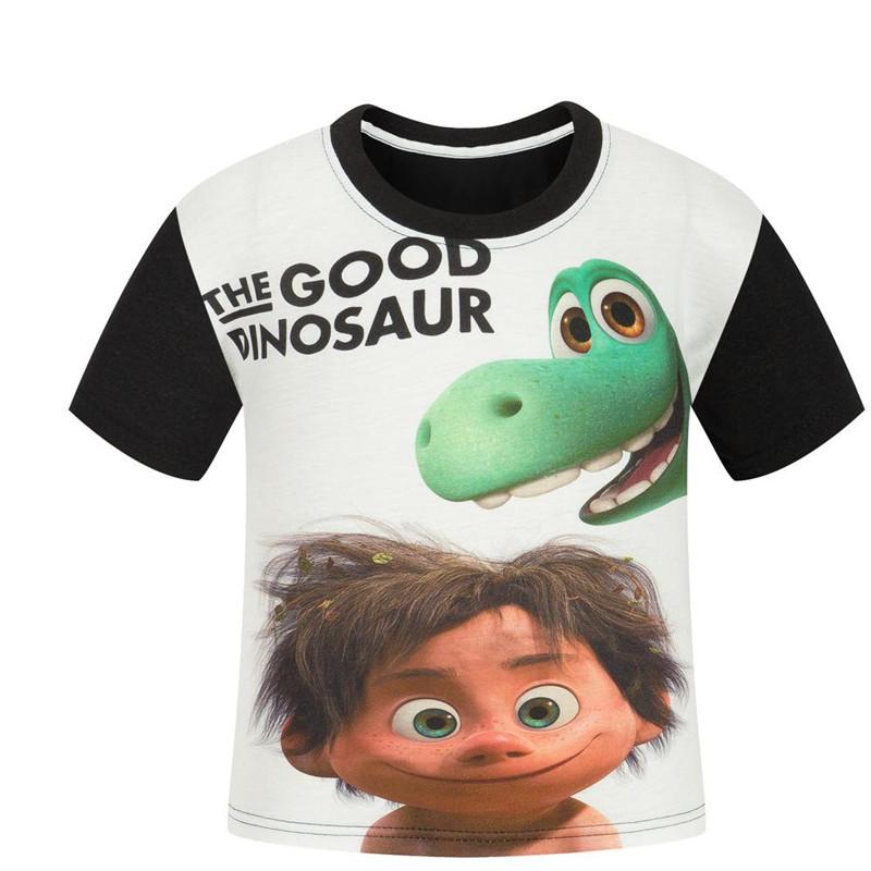 3 10Y The Good Dinosaur font b Boys b font T Shirt Summer Cartoon Kids T