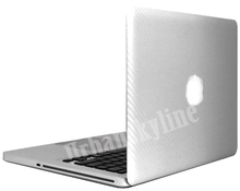 Silver Carbon Fiber Stripe Full Sticker for apple Macbook Air 13 Skin Case Model for A1369 A1466 Laptop Protection Vinyl Decal