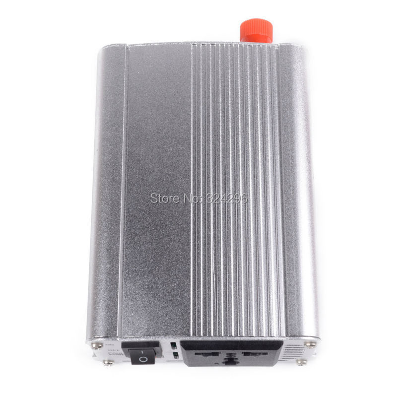 HOT-A1-00006 300W Car Vehicle USB DC 12V to AC 220V Power Inverter Adapter Converter - Silver(China (Mainland))