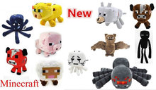 Minecraft Stuffed Plush Toy Game Doll Spider Mooshroom Sheep Enderman Ocelot Zombie Pig Squid Archer Bat Wolf Children Kid Gift(China (Mainland))