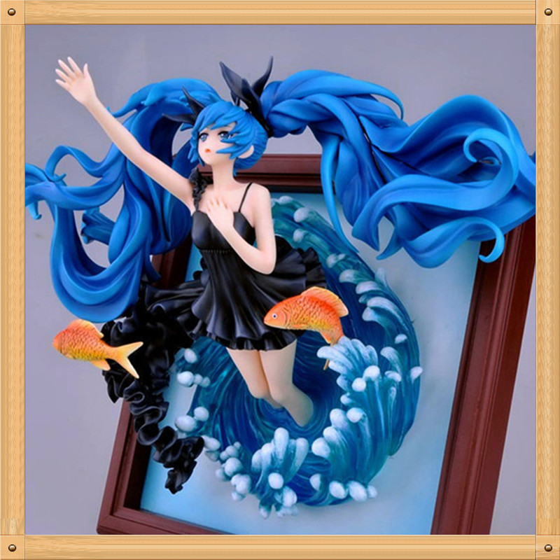 Cool 9 Volcaloid Hatsune Miku Deep Sea Girl Ver. 1/8 Scale Anime 35cm PVC Action Figure Collection Model Doll Toy<br><br>Aliexpress