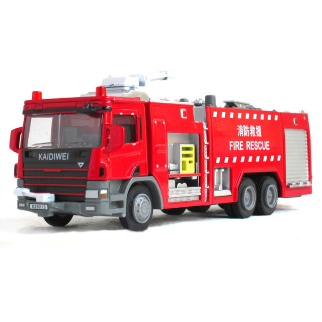 2015 New  Popular Car Model Toys Full Alloy Fire Engine Police Car Fire Truck Best Gift Free Shipping