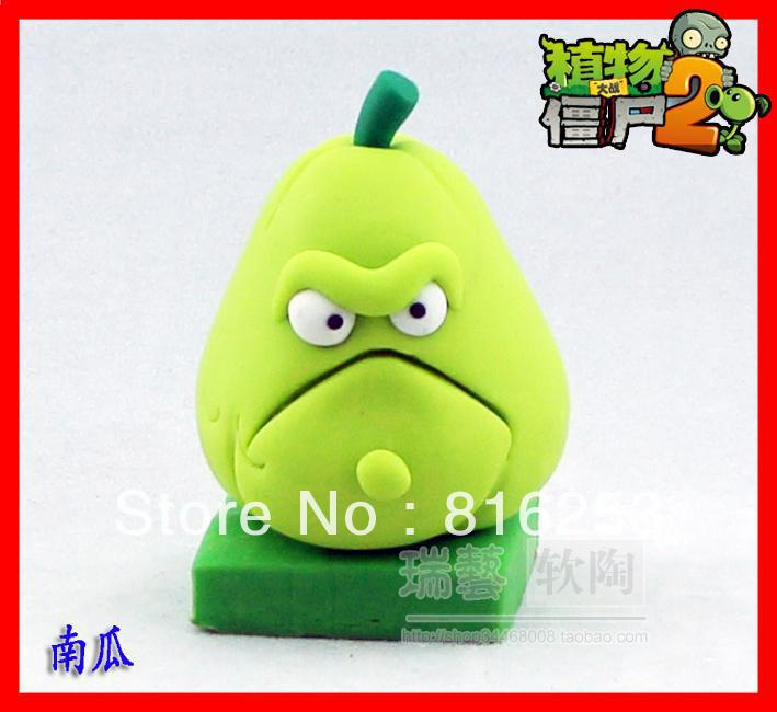 Free Shipping New Arrvial Plants vs zombies 2: It is about time.Squash action figure toy,5pcs/lot ,Polymer clay.<br><br>Aliexpress