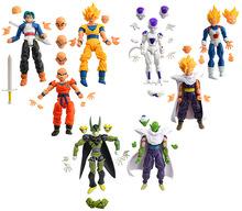 Dragon Ball kai 8pcs/lot Action Figure Budokai Son Goku Gohan Vegeta PVC Model Japanese Anime Figure DragonBall Z Kai Toy