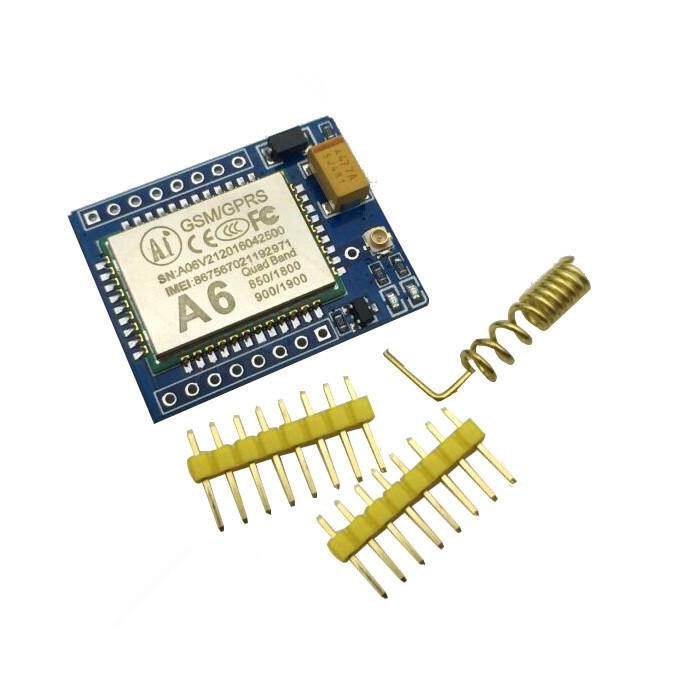 Free Shipping 5pcs/lot A6 GPRS GSM Module Kit Wireless Extension Module Board Antenna Tested super SIM800L(China (Mainland))