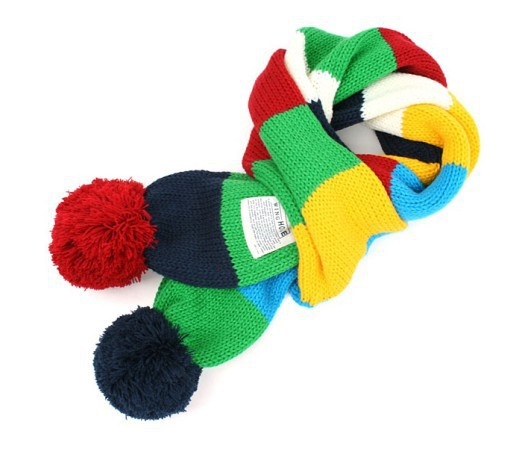 New Designer patchwork  Boys Winter Scarf Children Kids Girls  Warm  Knitted Scarf Desigual  echarpes 2014 shawls and scarves