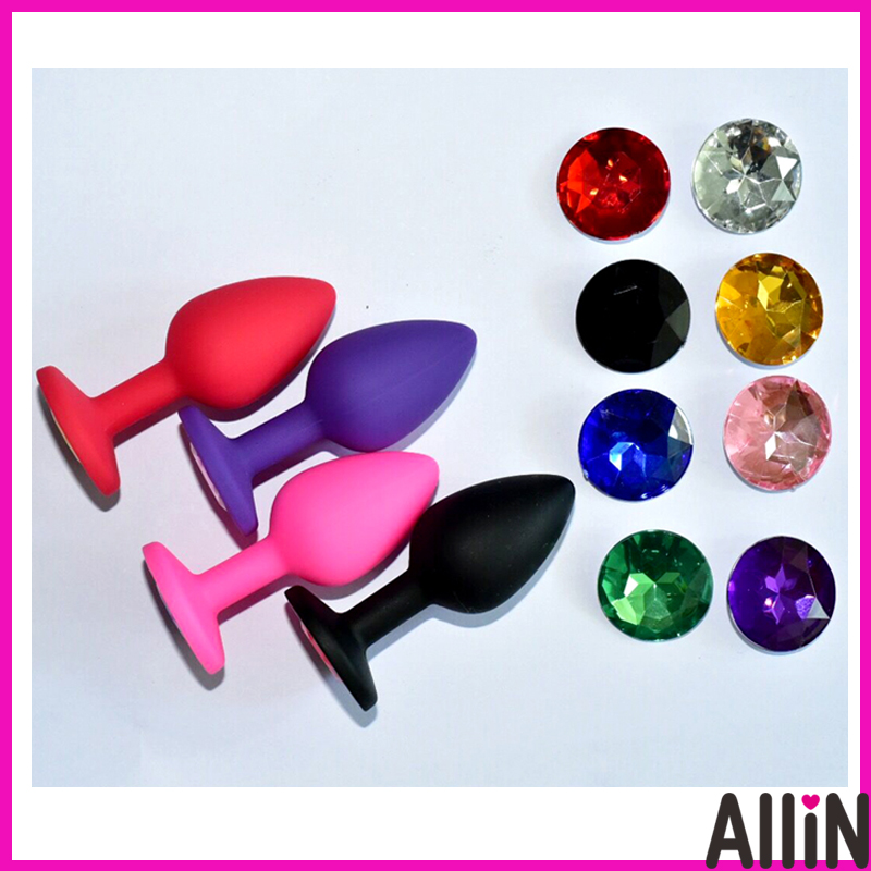 Colorful small size S silicone butt plug butt anal bead sex toys for adults free shipping