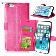 Flip Leather Mobile Phone Case For iPhone 6 6S Plus 5.5 inch Wallet Cover Cases With Card Slot SJ5290