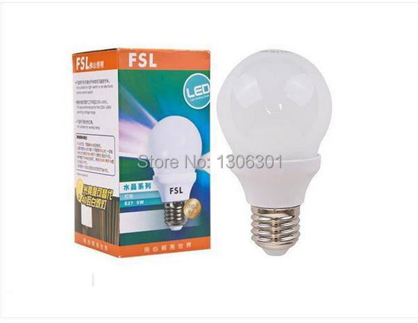 FSL LED lamp household engineering high life energy saving health light bulb E27 5W 3W(China (Mainland))