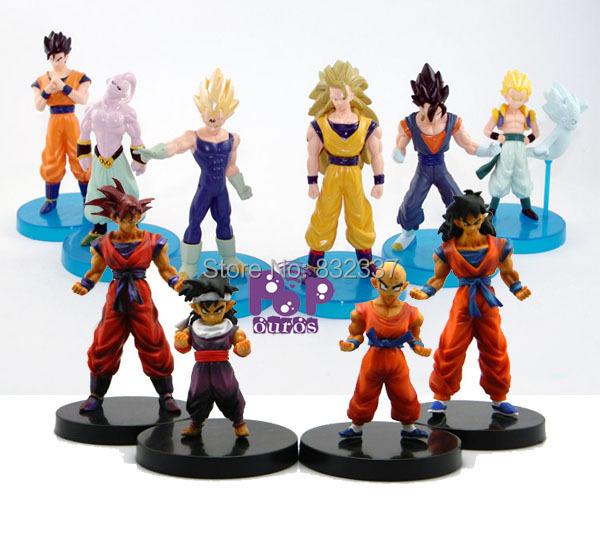 High Quality 10pcs/lot Classic Anime Dragon Ball Z Figures Goku/ Kuririn /vegeta /Buu /Gohan Dragon Ball Toys Free Shipping<br><br>Aliexpress