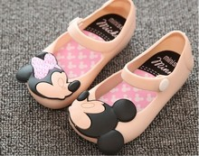 children beach Sandals Mickey Minnie kids toddler baby little girls crystal jelly shoes footwear candy smell style mini melissa(China (Mainland))