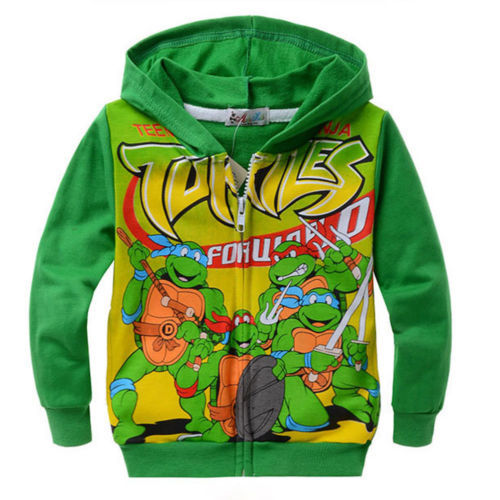 Teenage Mutant Ninja Turtles TMNT Hoodis Coat font b Clothing b font Trouser Green 2 7Years