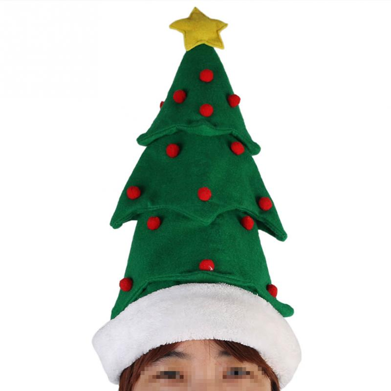 1pc Christmas Cap Three-dimensional Cap Xmas Tree Design Hat Adult Cap Christmas Decoration Gift(China (Mainland))