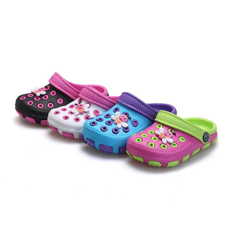 2016 Free Shipping Girls Boys Jelly Shoes Cartoon Children Mules Clogs Slides New Fashion Leisure Kids Sandals Child Slippers