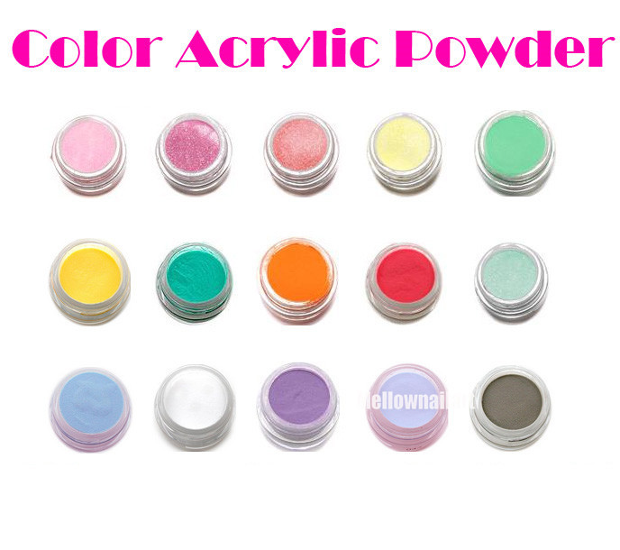 Cover / Glitter Color Coloured Acrylic Powder Nail Art Tips Builder Liquid 3D False Extension