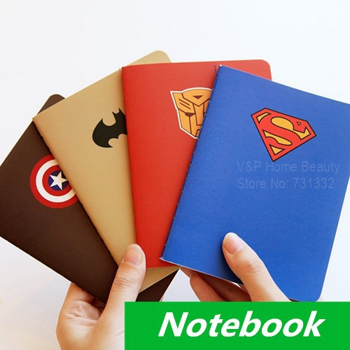 Book Cover Design Ideas School : Pcs lot hero theme notebook diary book notepad superman
