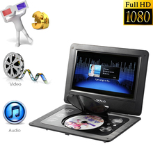 GKNUO GKN-101 10. 1 Inches DVD Player Portatil 16:9 TFT Screen Pixe 1024 * 600 Support SD/ USB AV for Gamepad TV DVD MP3 US Plug(China (Mainland))