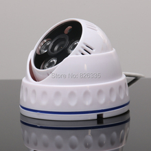 White 1 3 CMOS 900TVL Array LED Night Version IR CUT 6mm Indoor Dome CCTV Security