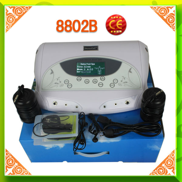 Dual Working System CE Ion Cleanse Detox Foot Spa MP3 and Lose Weight Waistband(China (Mainland))