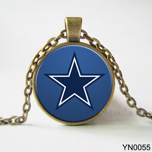 dallas cowboys nfl football pendant pendant necklace chain