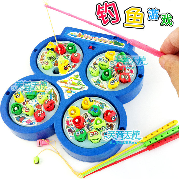 2014 New Christmas Gifts Child Toys Plate Fishing Disk Rotation Baby Eletric Educational Toys KC