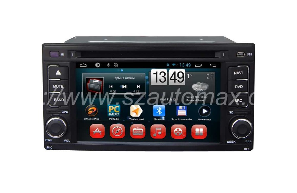"""Professional Manufacturer Android 6.2"""" 2 Din Car DVD GPS Mirror All-In-One Component System For Subaru Forester/Impreza With BT(China (Mainland))"""