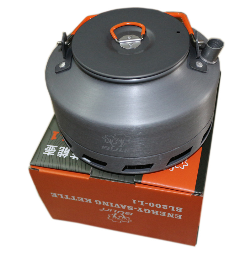 Bulin 1.1L Camping Kettle Heat Exchanger Tea Pot Picnic Kettle BL200-L1(China (Mainland))