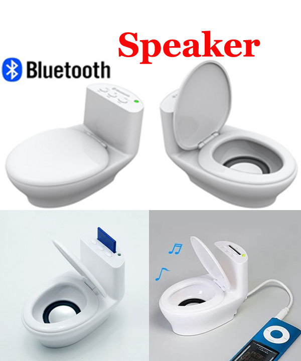 Closestool Style Wireless Bluetooth Speaker For Tablet PC Mobile Phones Portable Stereo Sound(China (Mainland))