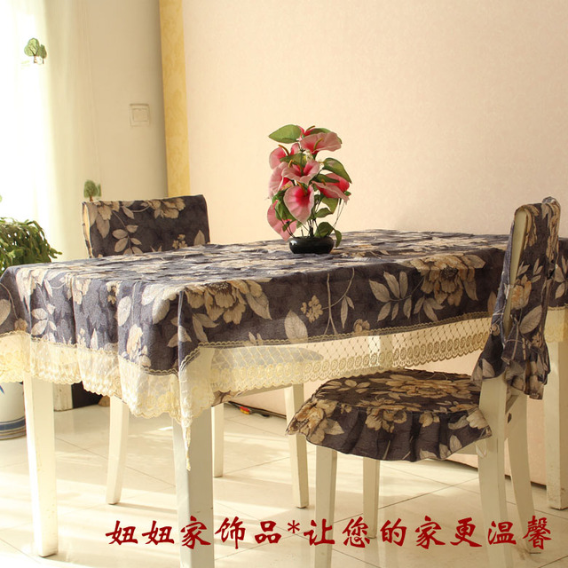 Rich flowers cushion table cloth dining table cloth