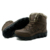 Tamaño grande 48 de Los Hombres Zapatos de Invierno Botas De Piel Cálidos Casuales Botas de Nieve del tobillo Botas de Plataforma Masculina de Alta Calidad de Cuero Negro de arranque