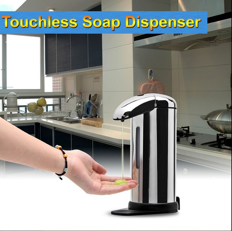 GBB 2015 NEW Arrival 500ML Automatic Touchless IR Sensor Liquid Soap Dispenser for Kitchen Bathroom(China (Mainland))