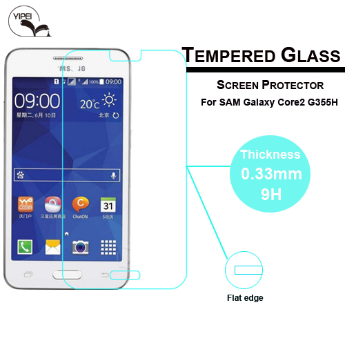 Explosion-Proof G355H Tempered Glass for Samsung Galaxy Core 2 II Screen Protector Ultra Thin 0.3mm 9H(China (Mainland))