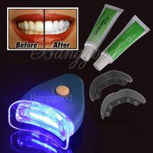 Hot & New White blanchiment des dents Tooth Gel blanchissant santé Kit Oral Care dentifrice pour personnelles soins dentaires saine avec la lumière(China (Mainland))