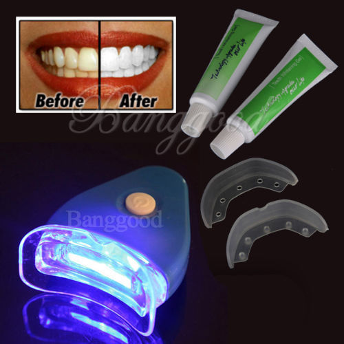 Hot & New White Teeth Whitening Tooth Gel Whitener Health Oral Care Toothpaste Kit For Personal Dental Care Healthy With Light(China (Mainland))