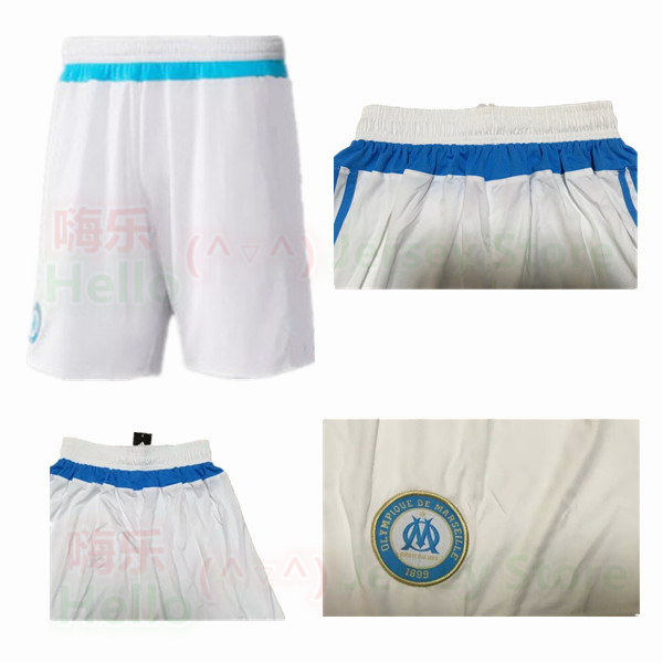 Thailand Quality 2015 2016 Olympique de Marseille Soccer Shorts France MENDES PAYET GIGNAC THAUVIN BATSHUAYI White home Football(China (Mainland))