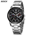 BOSCK relogios masculinos Luxury Brand Watch Men Fashion Watch Quartz Business Casual Wristwatch Full Steel Men
