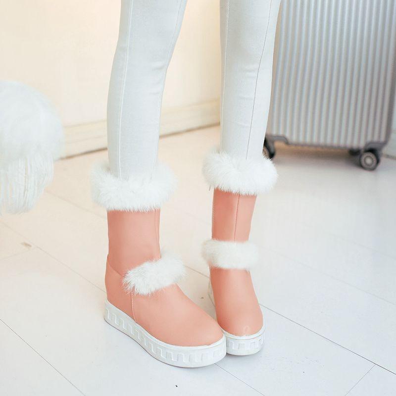ซื้อ จัดส่งฟรี2016ผู้หญิงรองเท้าหิมะสั้นรองเท้ารถจักรยานยนต์กันน้ำ4สีW Edgesรองเท้าส้นสูงฤดูหนาวขนรองเท้าขี่SBT1806