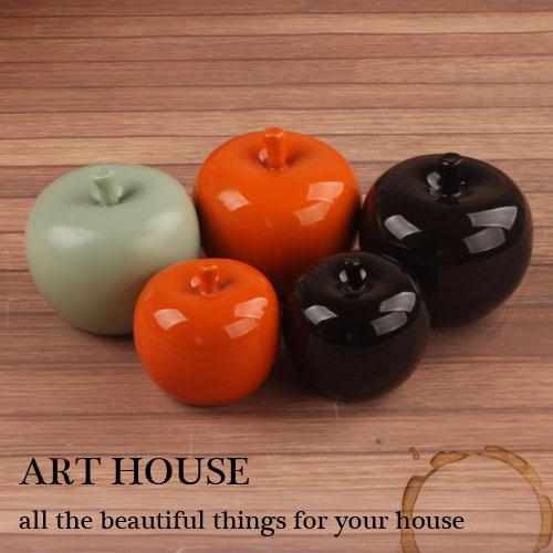 handicraft ceramic apple home decor crafts room decoration ceramic ornament porcelain figurines christmas articles decorations(China (Mainland))