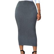 Fashion New 2016 Summer Style Women Pencil Skirts High Waist Bodycon Slim Midi Skirt LC71188 Saias Femininas
