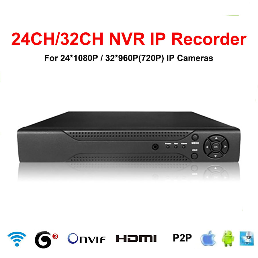 32CH NVR CCTV 24CH 1080p 32CH 960p 720p NVR 32ch HDMI ONVIF P2P Cloud network support 1HDD 4TB 32 Channel Network video recorder(China (Mainland))