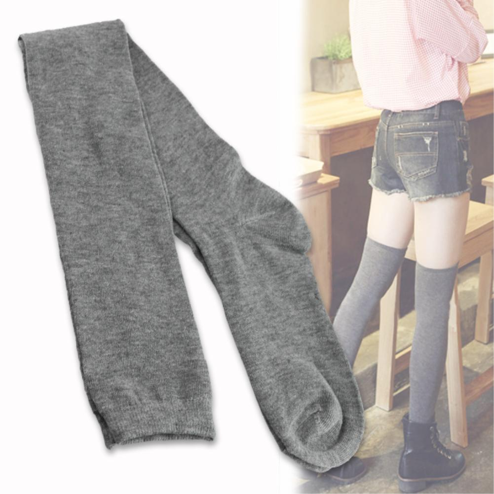 Over Knee Stockings 3 Colors Woman Cotton Opaque Thigh High Long Stockings EX1098