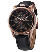Real MEGIR Luxury Leather Strap Analog Men Watches Quartz Watch Water Resistant Chronograph 6 Hand 24