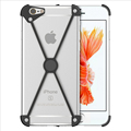 SHOWKOO X Shape Case Aluminum Bumper for iPhone 5s 5 SE 6 6S Plus 7 7